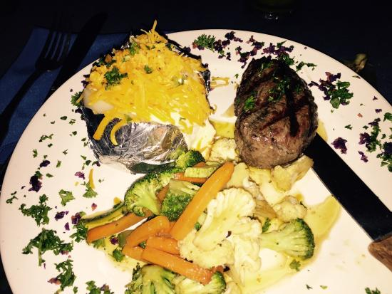 The Great Waltini's: Steak & baked potato and veggies
