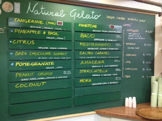 Bobboi Natural Gelato: Gelato Selections