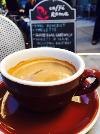Caffe Roma: Look at that crema!