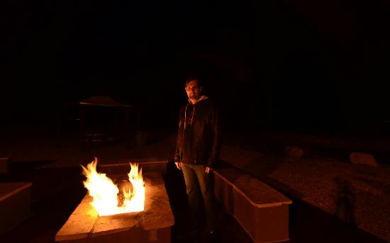 The Tombstone Grand Hotel : Fire pit fun