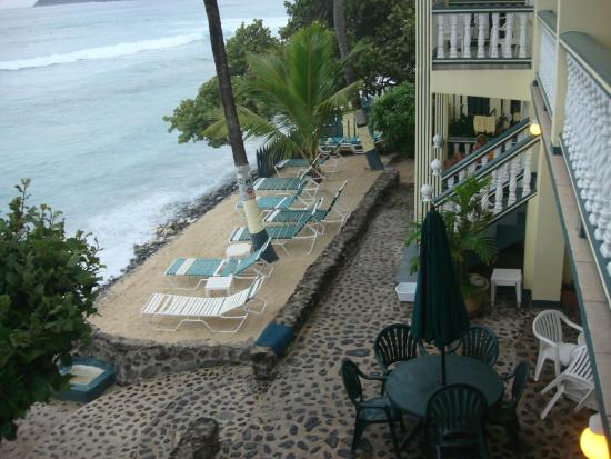 Sebastian's on the Beach: View from 2nd floor beachfront room