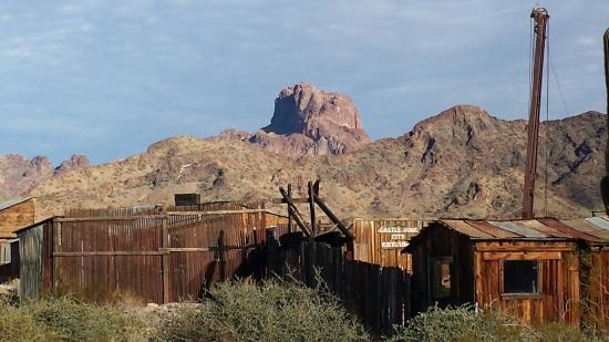 Castle Dome Mines Museum & Ghost Town: View from the parking lot
