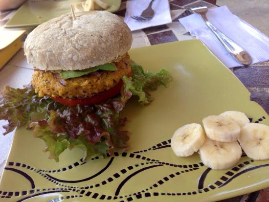 Samara Organics Mercado Organico: Veggie Burger