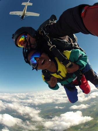 A tandem skydive at Durban Skydive Centre