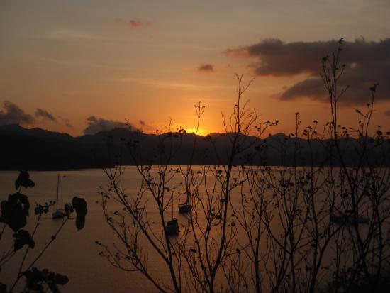 Secret Island Resort: sunset from the balcony