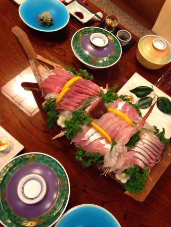 Ryokan Shomiso: 夕飯の刺盛