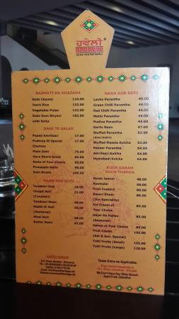 Sonipat, India: Menu@Haveli