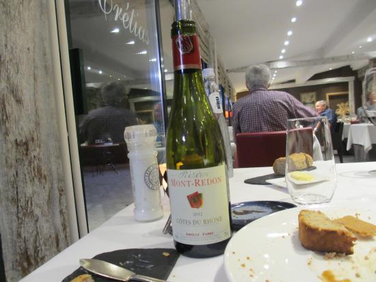 Auberge des Cretes : glass wine