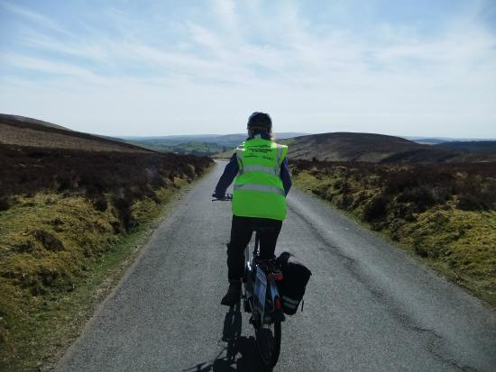 Dartmoor Electric Bicycles: Setting off down the lovely Challacombe hill