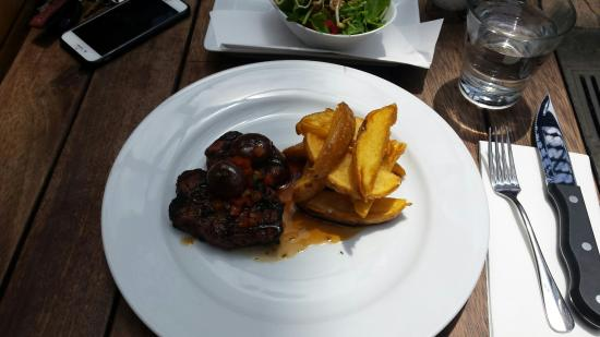 Longroom: Aged eye filet with fries and salad