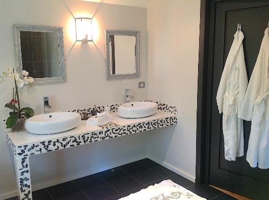 Villa Vent Couvert : Salle de bains de la chambre Ambiance Boudoir