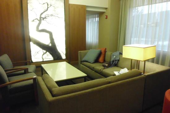 Hyatt Place Denver/Cherry Creek: One area of a large lobby that we spent a lot of time in