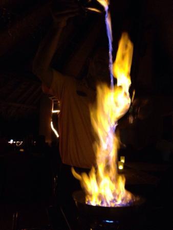 Cuna Del Angel: Friits flambés!  Un delice:-)