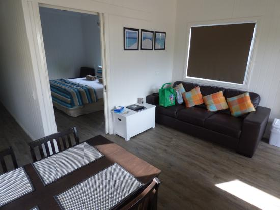 Kurrimine Beach Holiday Park: The Lounge Area with Dining Area in foreground.