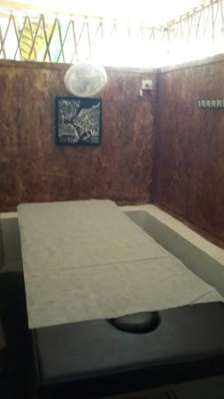 Ashvem Beach, Indien: Massage Room