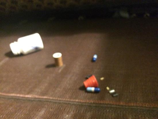 Days Inn & Suites Port Richey: garbage and pill