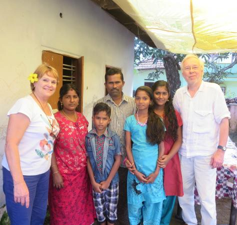Bella Homestay: The lovely family that invited us for lunch in the Backwaters