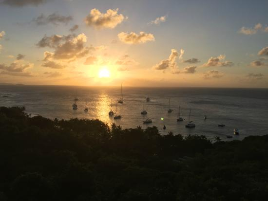 Firefly Hotel Mustique : Sunset over Brittania Bay, Dec. 23 2014