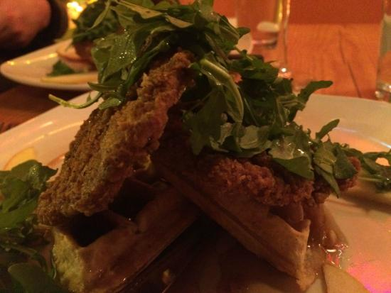 Fiction Kitchen: Vegan chicken and waffles