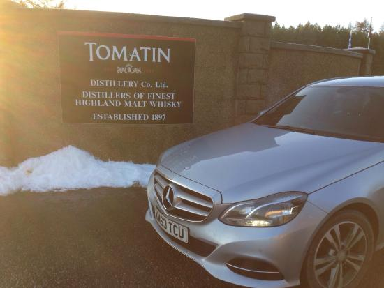 Scenic Routes: Winter at Tomatin Distillery.