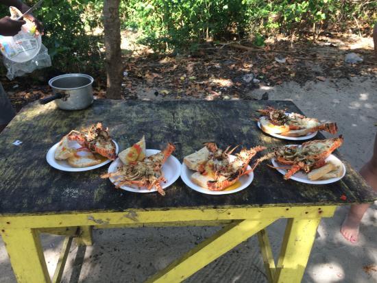 Booby Cay Island : Pranzo