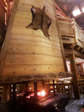 La Ferme de la Frutiere: Wood Burning Fire on the Main Floor