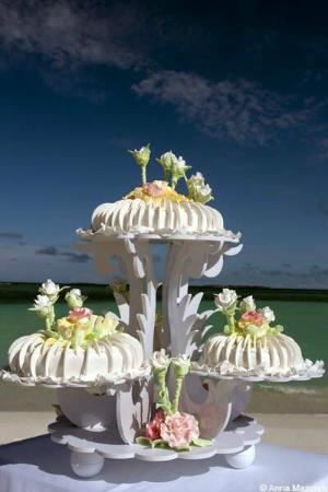 Hideaway Beach Resort & Spa: Beautiful wedding cake!!!!! Perfect and DELICIOUS
