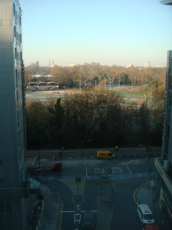 Pestana Chelsea Bridge: View from room to Battersea Park
