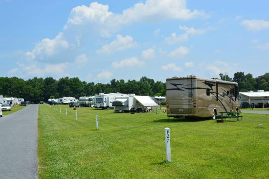 Homestead Campground: The site are nice and long!!!!