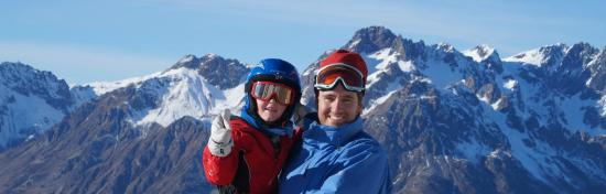 Le Château d'Oz : Photo taken at the top of the Poutran lift on Christmas day