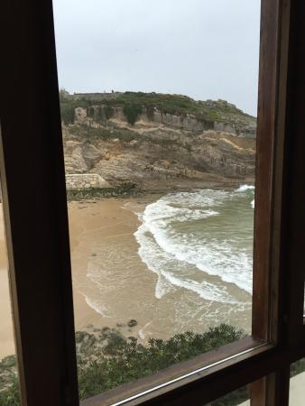 Hotel Sablon: Vistazas desde la habitación pese al temporal!