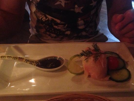 Koornlands Restaurant : Crocodile Sashimi