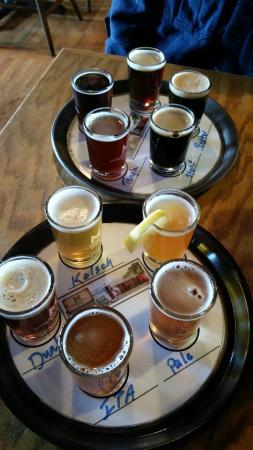 McCall Brewing Company: 2 flights of beer