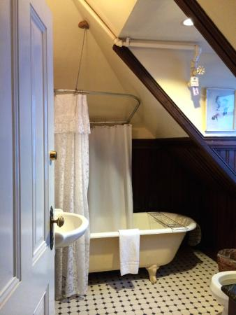 Chateau Tivoli Bed & Breakfast: Shared bathroom
