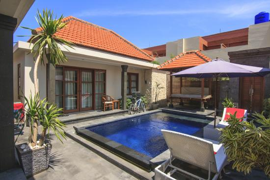 Bali Sanur Beach Villas Another View Of Pool Side In Day Time