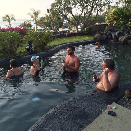 Kona Sugar Shack : after an adventure we would all hit the pool to relax