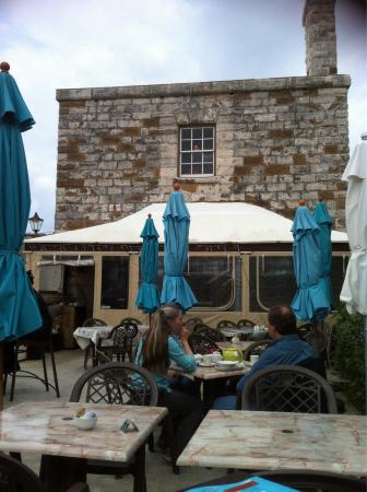 The Dockyard Pastry Shop: Seating outside