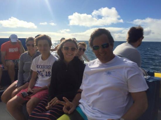 Redmond Family Enjoying Na Pali Explorers Sea Tour