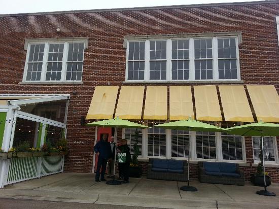 Babalu Tapas & Tacos: Babalu's front door area.  Old school in Jackson