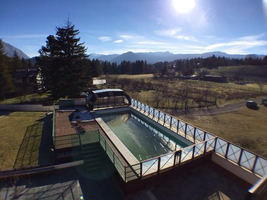 Hotel Sport Daniel: La piscina vista dalla camera
