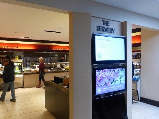 The Cafe: The Servery at Terrace Cafe (cafeteria style)