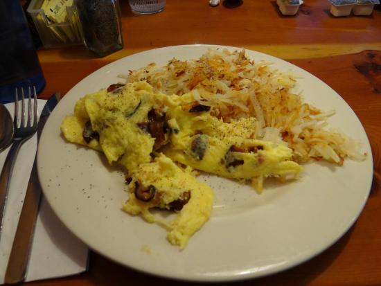 Big Horn Restaurant: eggs with bacon