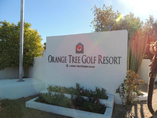 Orange Tree Golf Resort: Sign at resort