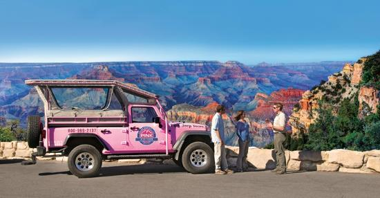 Tusayan, AZ: Explore the the South Rim of the Grand Canyon with Pink Jeep Tours.