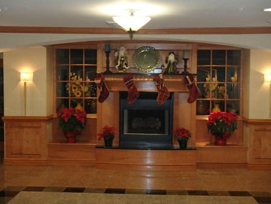 Sleep Inn & Suites: Nice decoration in lobby.  Breakfast area just behind this.
