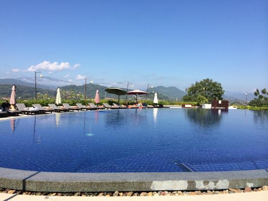 Luang Prabang View Hotel : Pool view