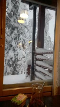 Ski-Inn MastonAitio Cabins: View from dining table