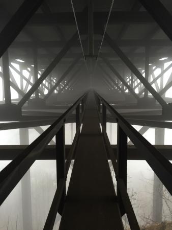 Bridge Walk- New River Gorge Bridge: Foggy weather made this great.
