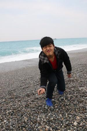 Qixing Lake Binhai Bicycle Road: 七星潭石滩