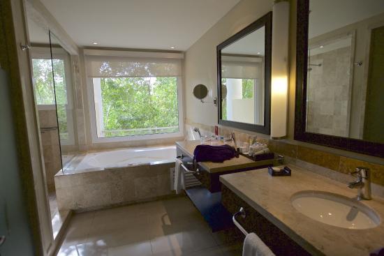 Bathroom in junior suite picture of now jade riviera for Riviera bathrooms
